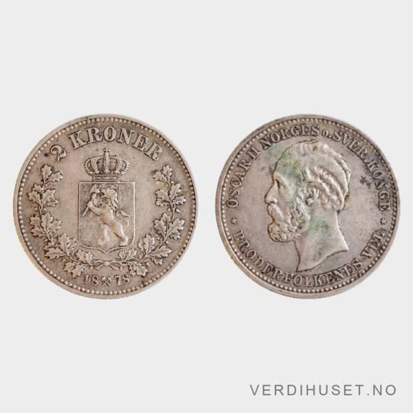 Bilde av 2 kr 1878 kv 1+