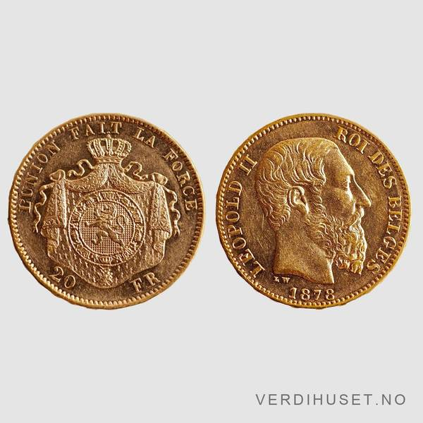 Bilde av 20 Francs 1878 - Belgia