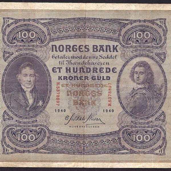 Bilde av 100 kr 1940 B kv s1+ (B.5378897)
