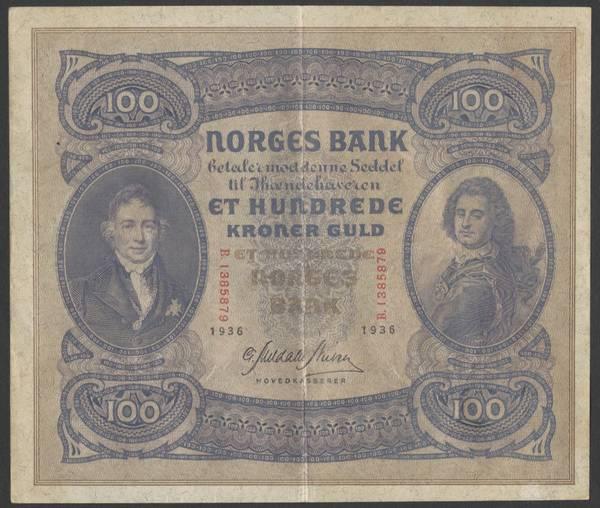Bilde av 100 kr 1936 B kv g1(B.1385879)