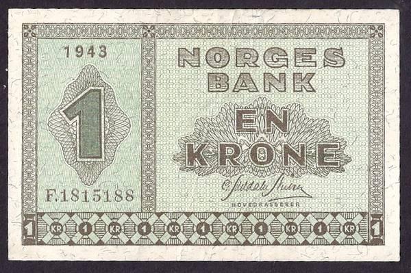 Bilde av 1 kr 1943F Kv 01 (F.1815188)