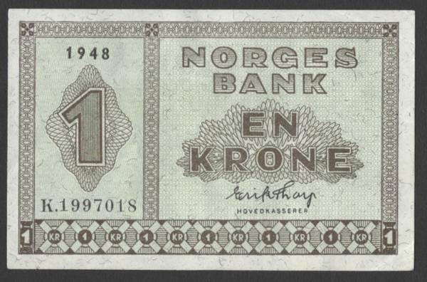 Bilde av 1 kr 1948 K kv 01 (K.19970018)