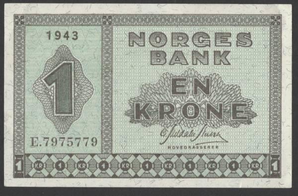 Bilde av 1 kr 1943E Kv 01 (E.7975779)