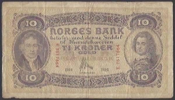 Bilde av 10 Kr 1916 E Kv 1- (E.7517564) - S