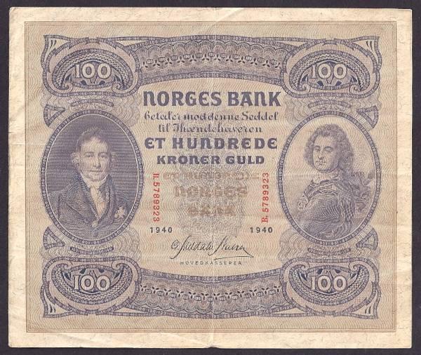 Bilde av 100 kr 1940B Kv g1 (B.5789323)