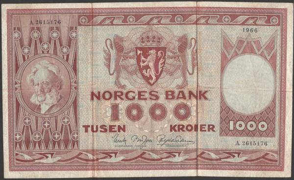 Bilde av 1000 kr 1966 A kv g1 (A.2615176)