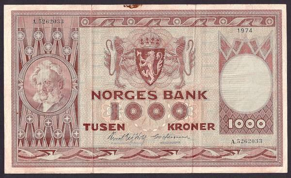 Bilde av 1000 Kr 1974 A kv 1 (A.5262033)