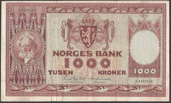 Bilde av 1000 Kr 1971 A kv 1 (A.4163151)