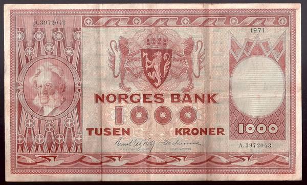 Bilde av 1000 Kr 1971 A kv 1 (A.3972043)