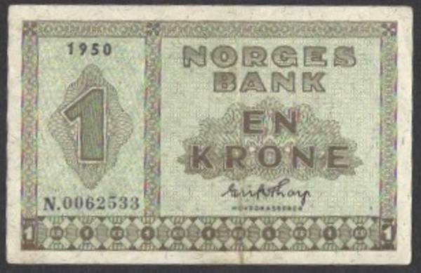 Bilde av 1 kr 1950 N Kv s 01 (N.0062533)