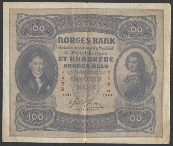 Bilde av 100 kr 1941 B Kv 1 (B.7099730)