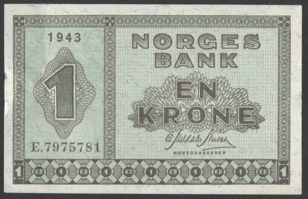 Bilde av 1 kr 1943E Kv 01 (E.7975781)