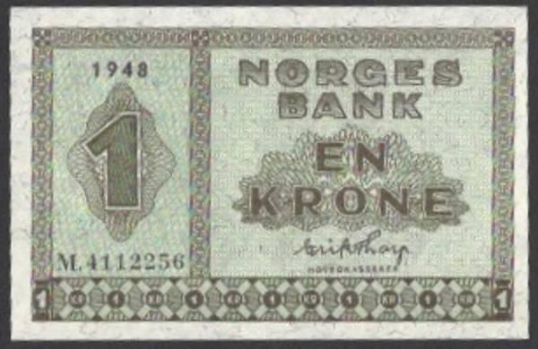Bilde av 1 kr 1948 M Kv s0 (M.4112256)