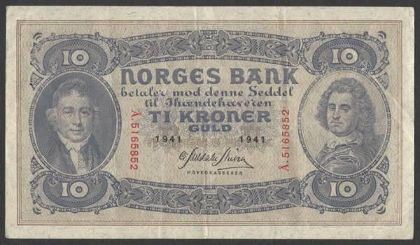 Bilde av 10 kr 1941 Å Kv g1 (Å.5165852)