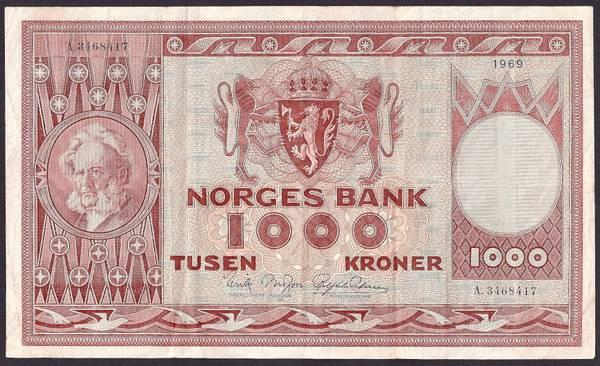 Bilde av 1000 kr 1969 A kv g1 (A.3468417)