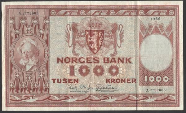 Bilde av 1000 kr 1966 A kv 1 (A.2722605)