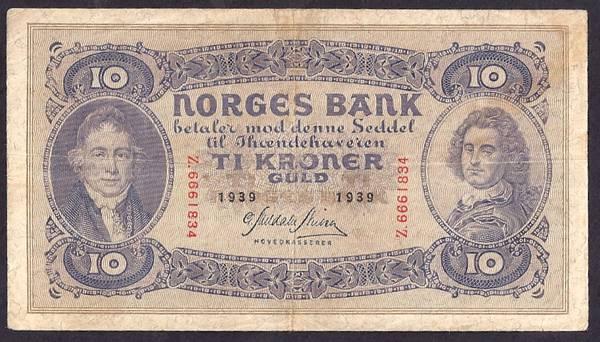 Bilde av 10 kr 1939 Y Kv g 1 (Z.6661834)