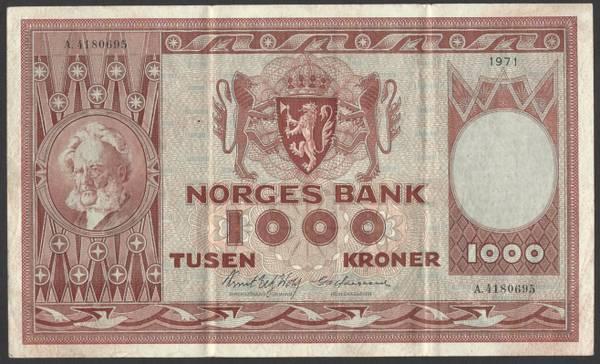 Bilde av 1000 Kr 1971 A kv 1 (A.4180695)