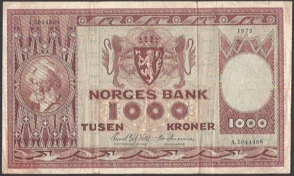 Bilde av 1000 Kr 1973 A kv 1 (A.5044408)