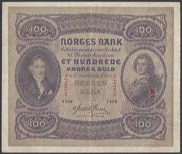 Bilde av 100 kr 1938 B kv g1 (B.2754470)