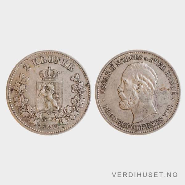 Bilde av 2 kr 1878 kv g1+
