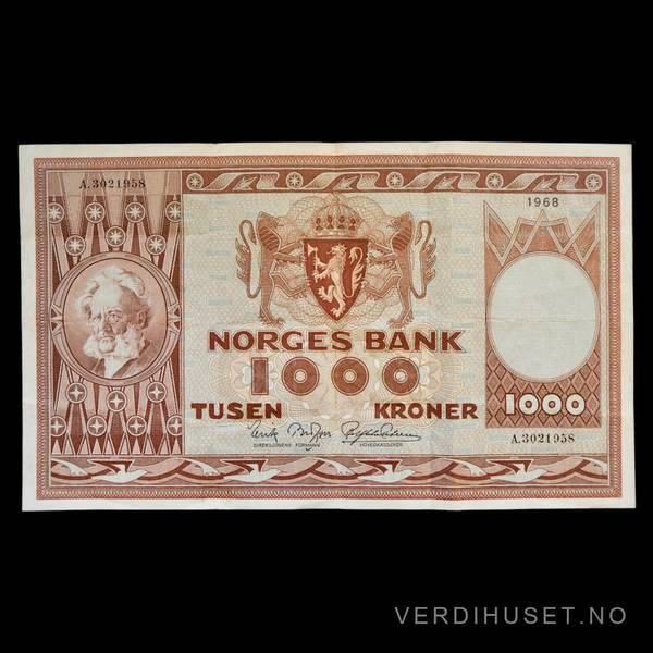 Bilde av 1000 Kr 1968 A kv 1 (A.3021958)