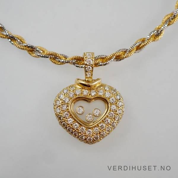 Bilde av Halssmykke i 14 K hvitt og gult gull