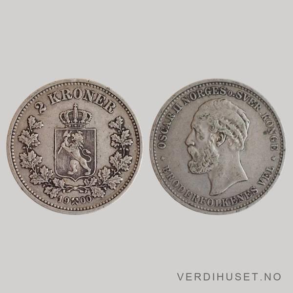 Bilde av 2 kr 1900 Kv s1+