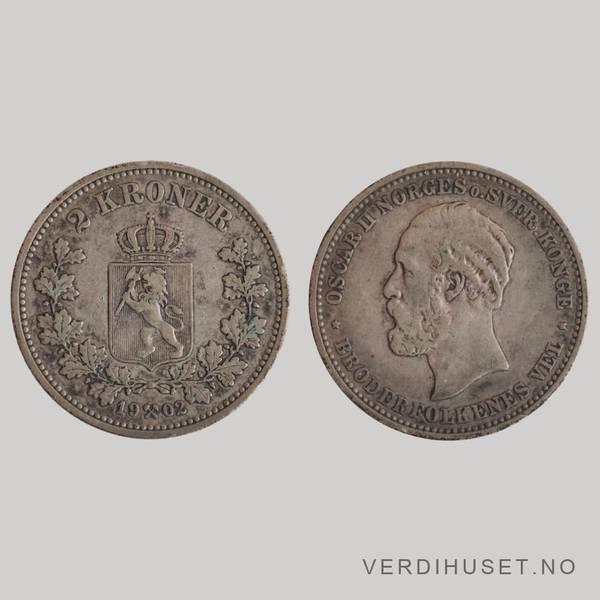 Bilde av 2 Kr 1902 Kv 1/1+