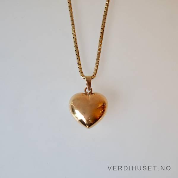 Bilde av Halssmykke i 14 K gull - Hjerte