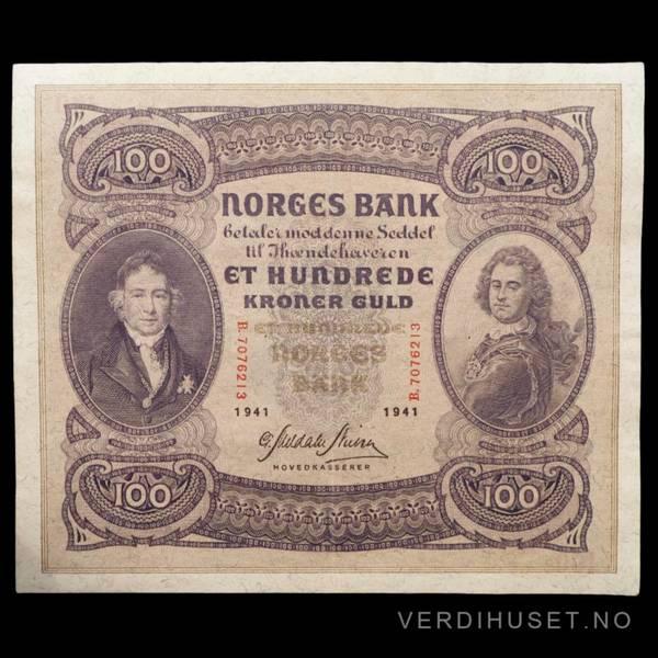 Bilde av 100 Kr 1941 B Kv g1+ (B.7076213)