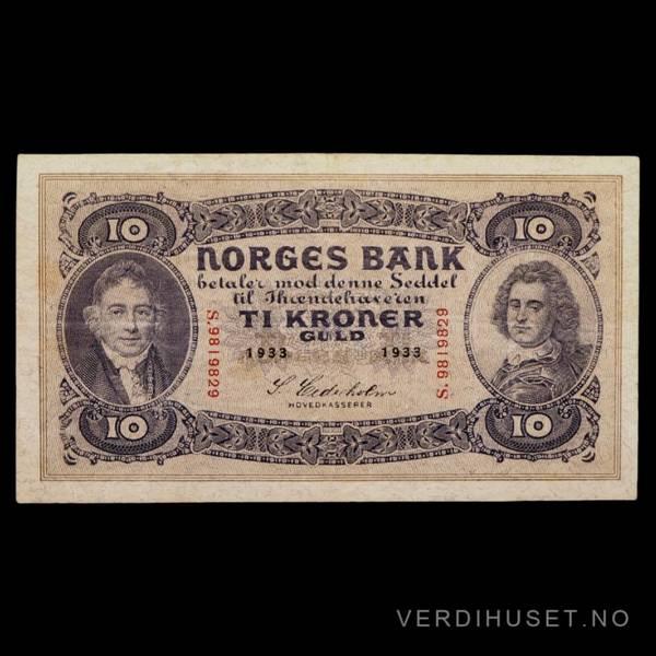 Bilde av 10 Kr 1933 S Kv 1+ (S.9819829)