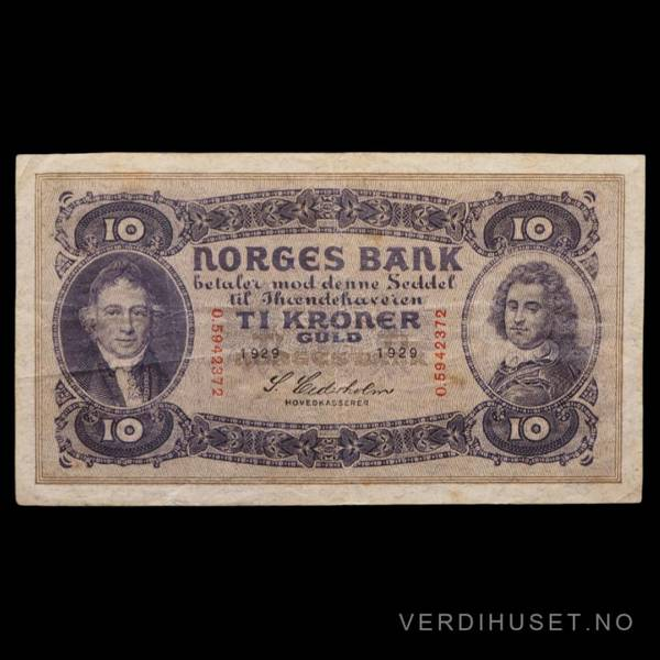 Bilde av 10 Kr 1929 O Kv g 1 (O.5942372)