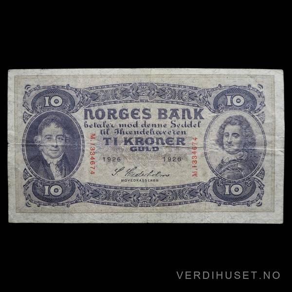 Bilde av 10 Kr 1926 M Kv 1- (M.1334674)