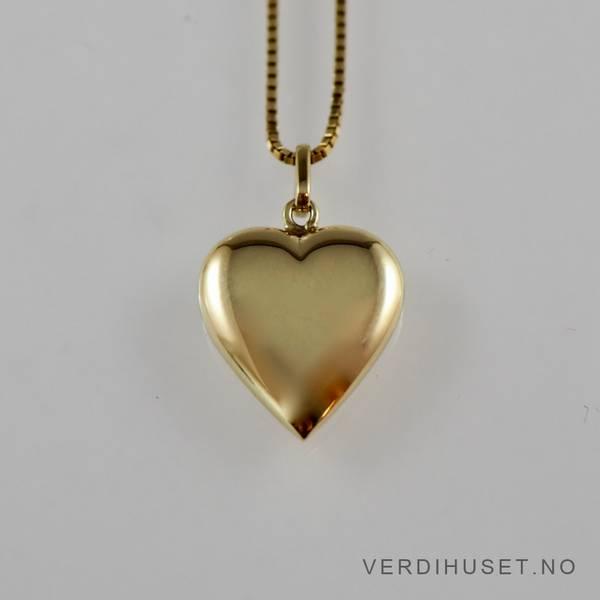 Bilde av Anheng/Hjerte i 14 K gull