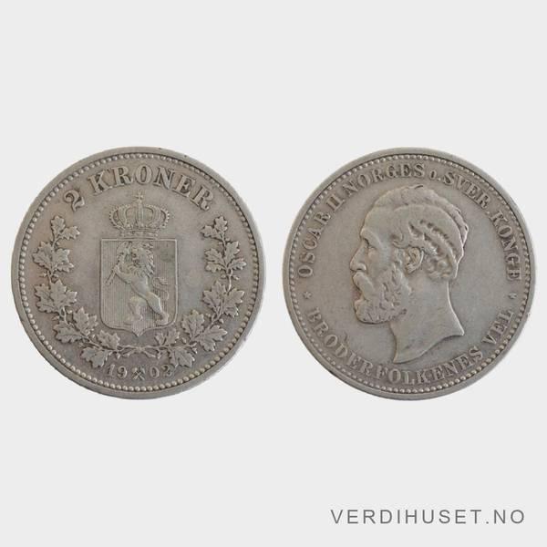 Bilde av 2 Kr 1902 Kv s1+