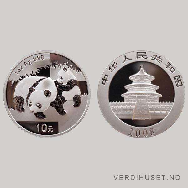 Bilde av 10 Yuan 2008 - Panda