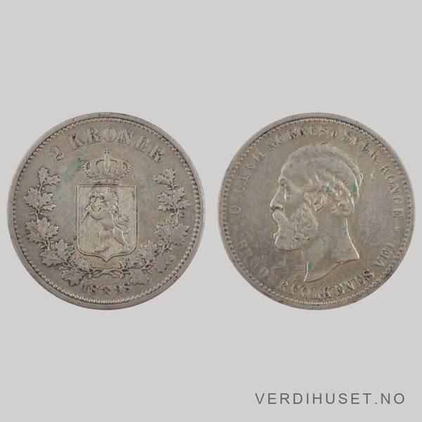 Bilde av 2 Kr 1898 Kv g 1+