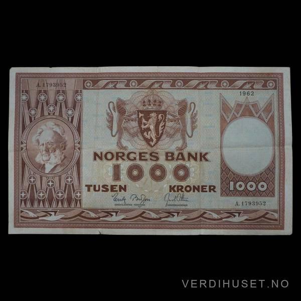 Bilde av 1000 kr 1962 A kv 1 (A.1793952)