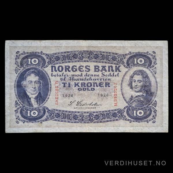 Bilde av 10 Kr 1926 M Kv s1  (M.2933243)
