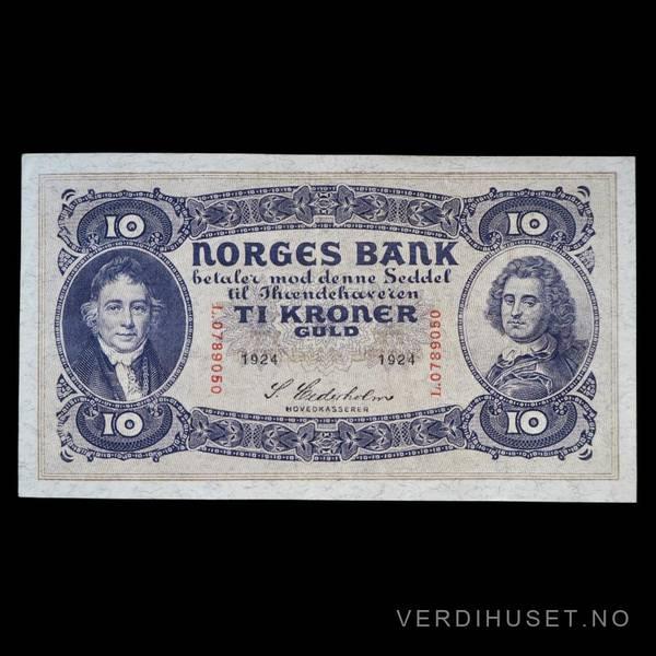 Bilde av 10 Kr 1924 L Kv 1+ (L.0789050) - S