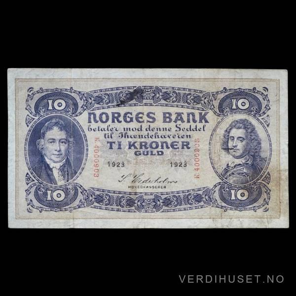Bilde av 10 Kr 1923 K Kv s1 (K.4000903) - S