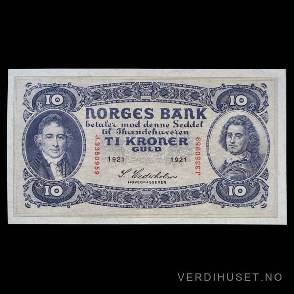 Bilde av 10 Kr 1921 J Kv 01 (J.3350959)