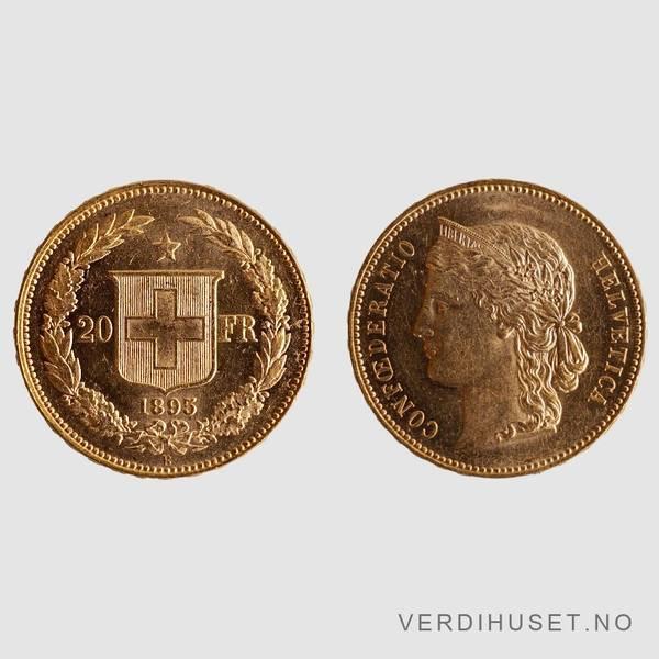 Bilde av 20 Franc 1895 - Sveits