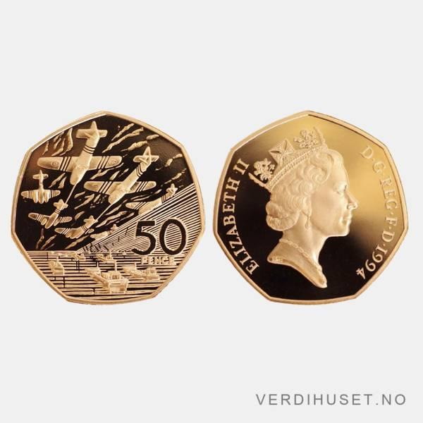 Bilde av 50 Pence 1994 - Gullmynt