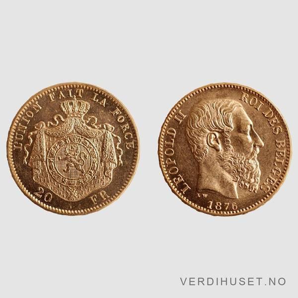 Bilde av 20 Francs 1876 - Belgia