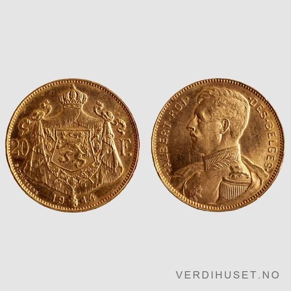Bilde av 20 Francs 1914 - Belgia