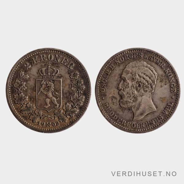Bilde av 2 Kr 1902 Kv s 1+