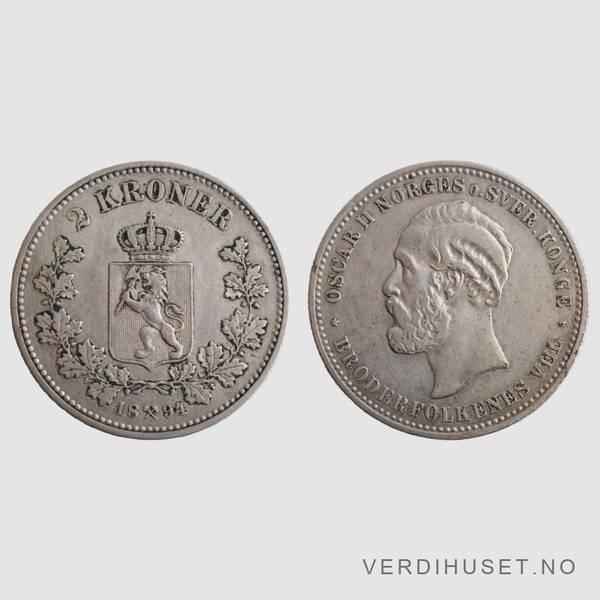 Bilde av 2 Kr 1894 Kv 1/1+