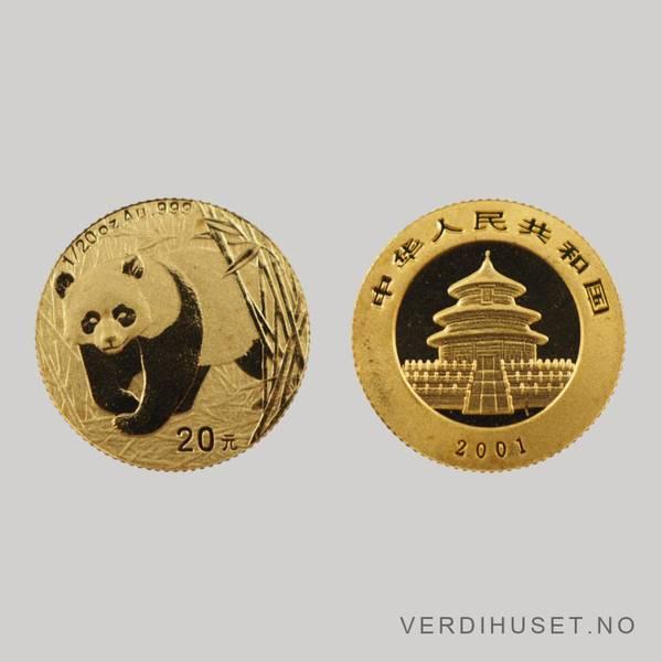 Bilde av 20 Yuan 2001 - Panda
